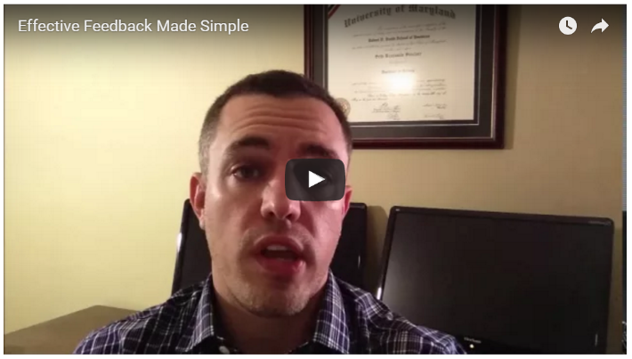 In less than 10 minutes, this video will prevent you from making common mistakes and provide steps to construct effective feedback for your team.