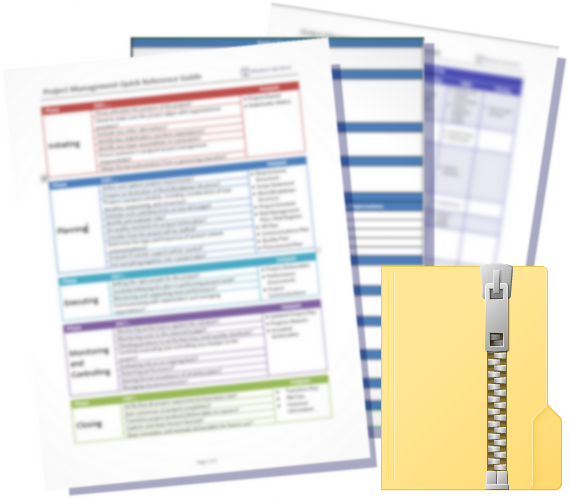 Project Management Toolkit - Contains the Quick Reference Guide, and all Templates