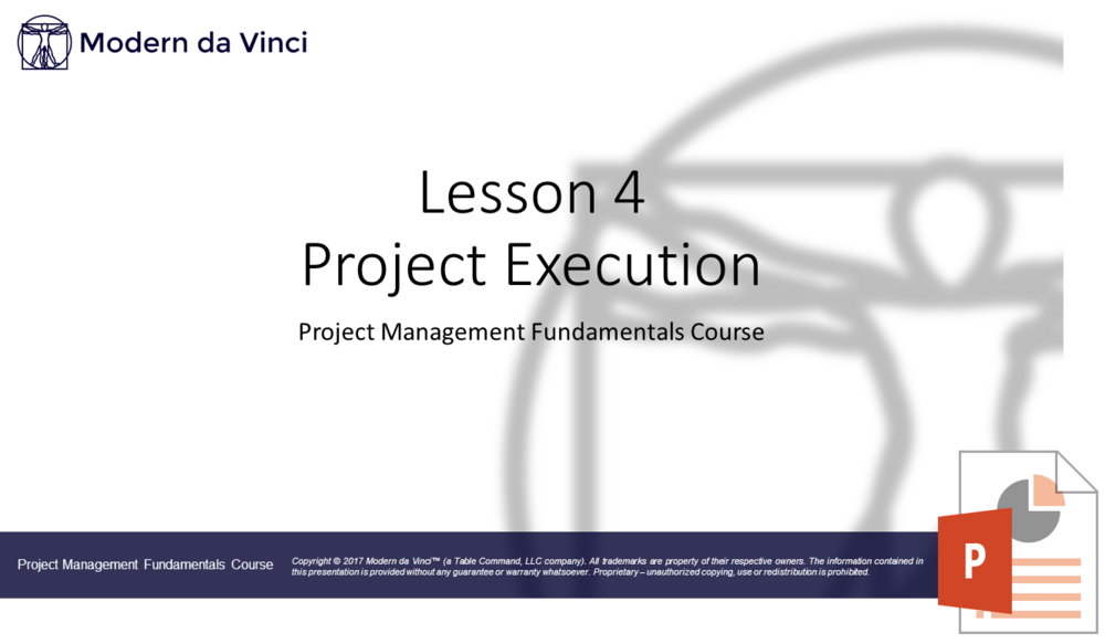 Executing Slides - Project Management Fundamentals Course