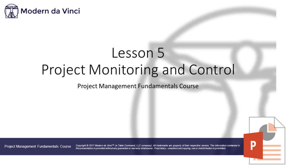 Project Monitoring and Control Slides - Project Management Fundamentals Course