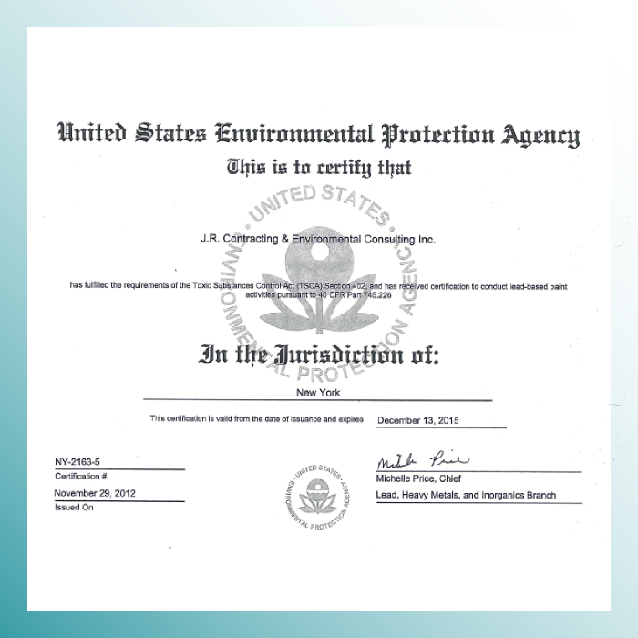 US EPA - New York Lead Certification