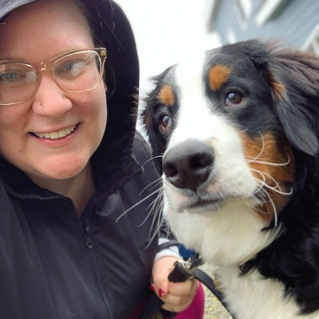 out for a rainy walk with my new best friend . . . #liveauthentic #livefolk #keepitwild #makeyousmilestyle #lifestyle #thatsdarling #photosinbetween #pursuepretty  #thehappynow #flashesofdelight #howyouglow #nothingisordinary #colorventures #happy #visualcrush #bloggervibes #adventureisoutthere #livethelittlethings #vsco #vscocam #abmhappylife #bernesemountaindogs #dogsofinstagram