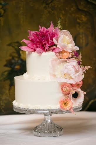 Pink Dahlia Cake, Blithewold Mansion