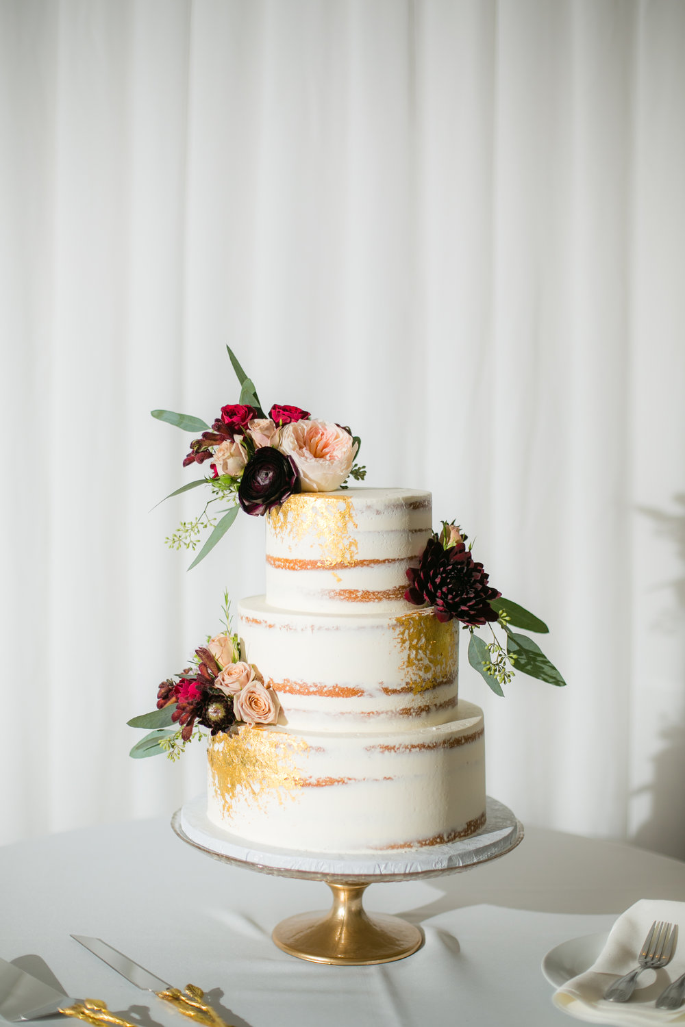 Wedding cakes isis cakes gold semi naked blithewold junglespirit