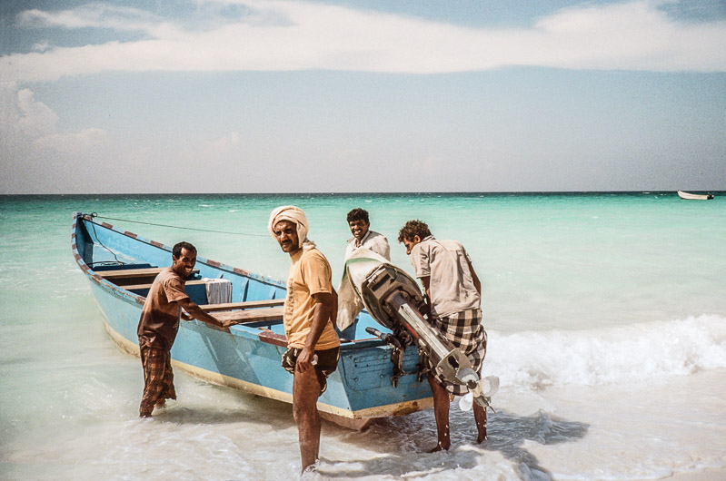 fishermen on the beach of SOCOTRA