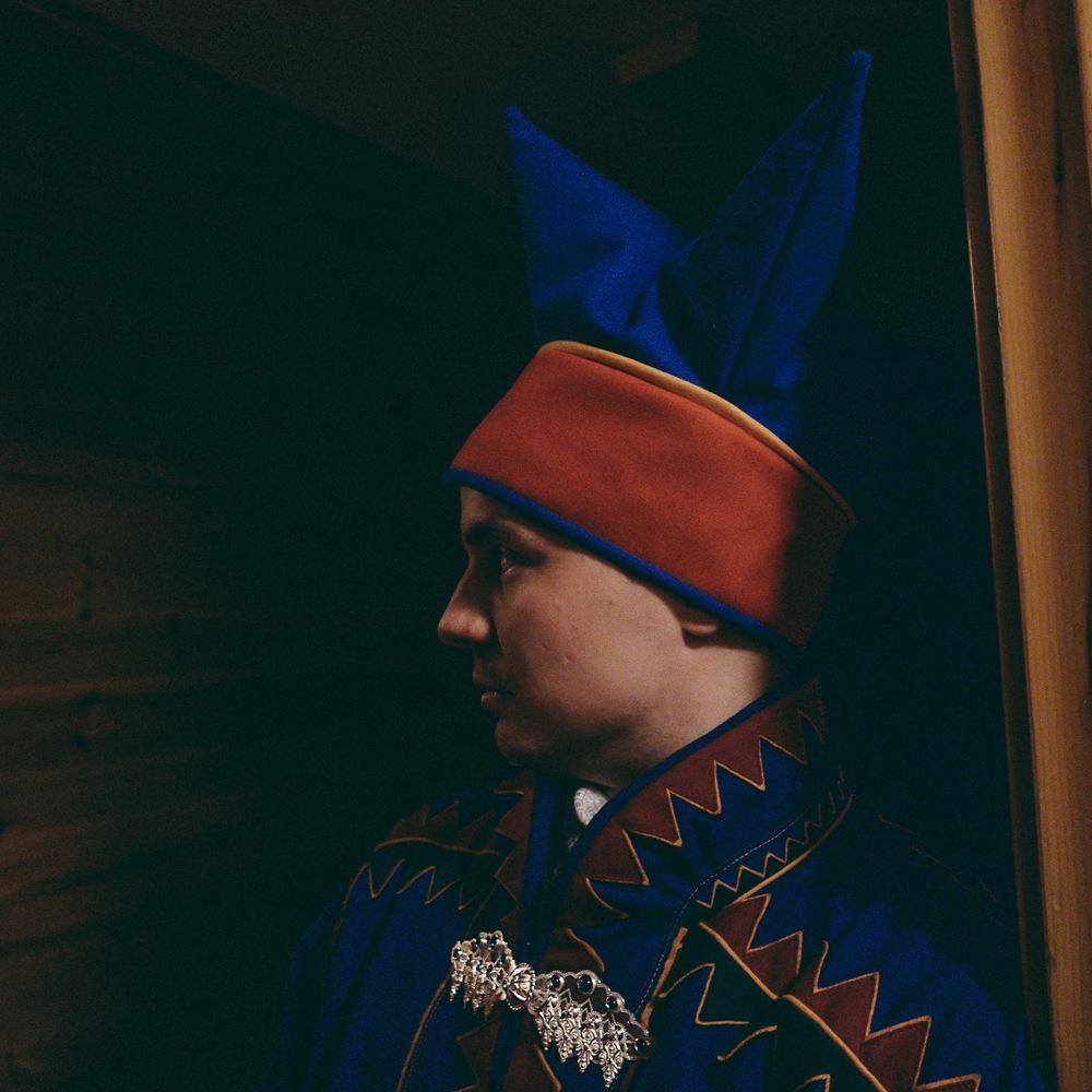 sámi reindeer herder, kautokeino, arctic NORWAY