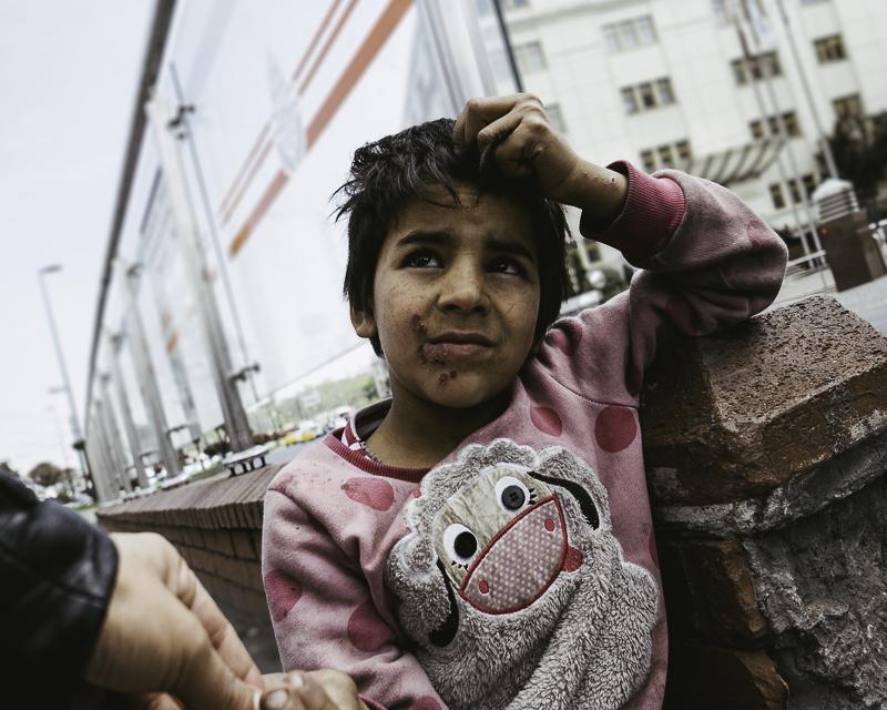 syrian refugee girl, ISTANBUL