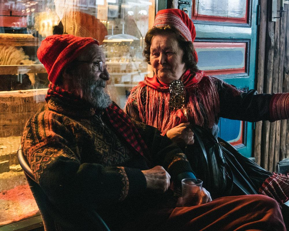 frank juhls & a sámi woman, kautokeino, sápmi, NORWAY
