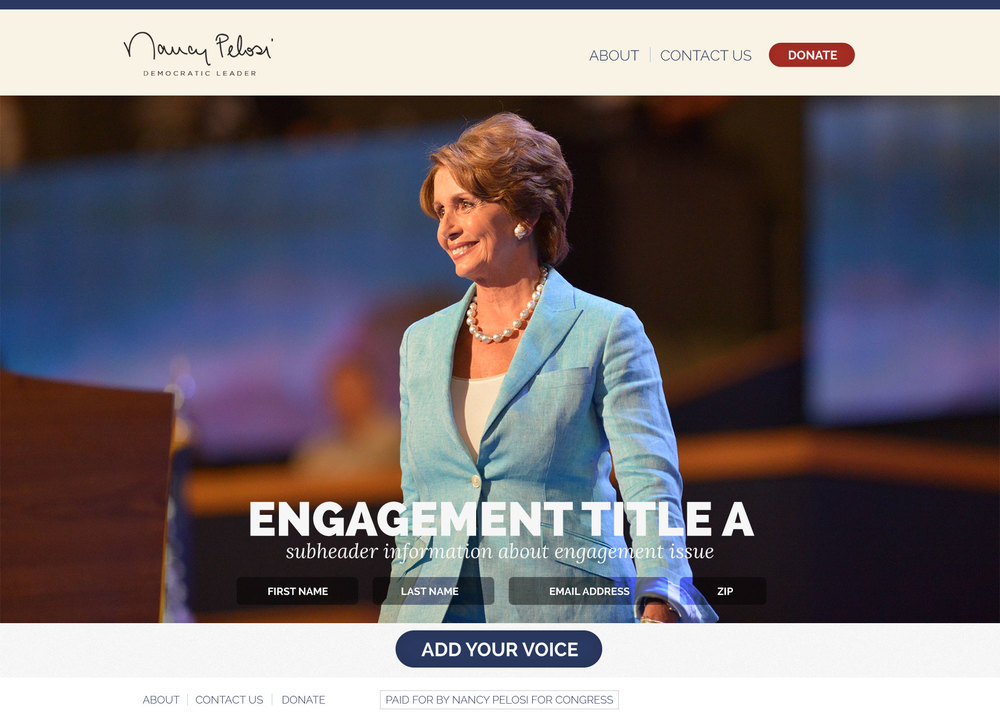 Nancy Pelosi for Congress 2014 campaign website