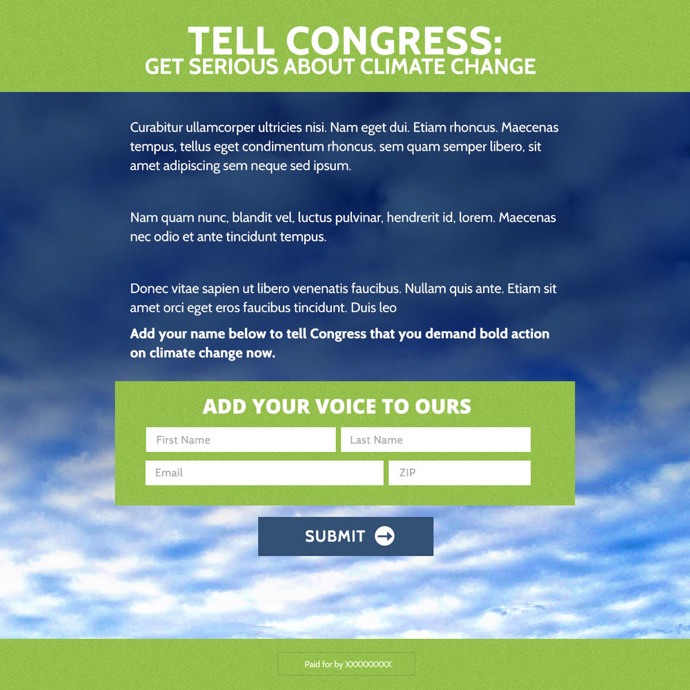 Climate change joint action landing page