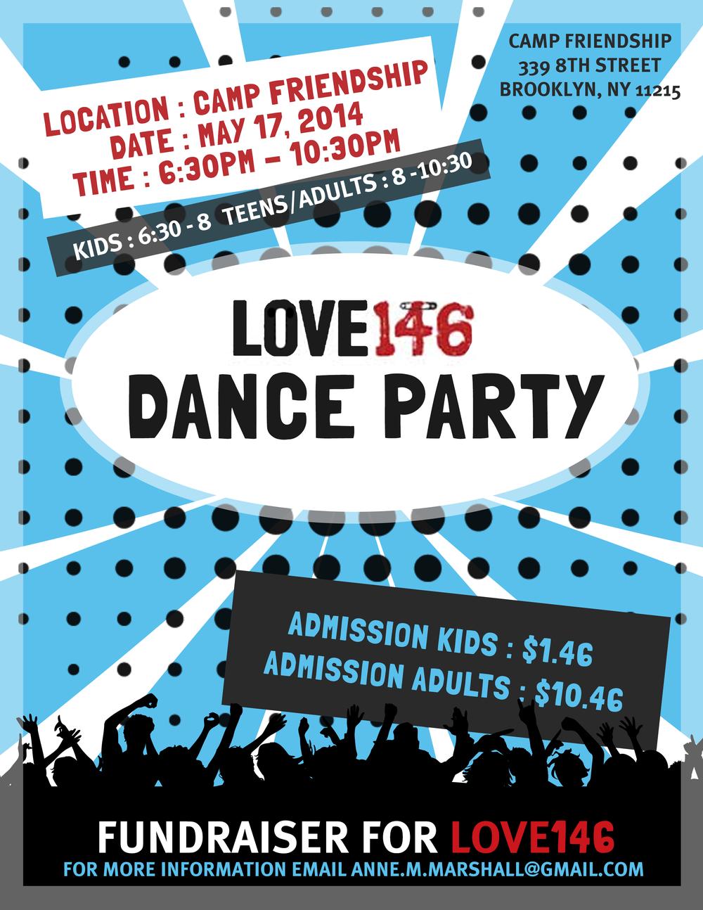Love146 fundraiser flyer design