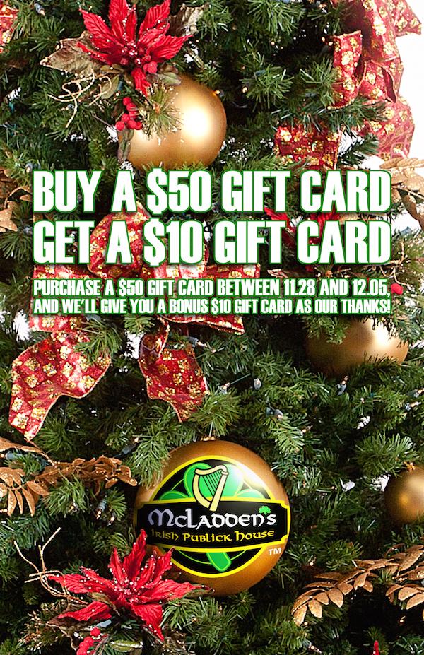 McLadden's Gift Card Bonus 2014