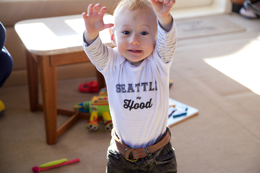 "Totes in his ""Seattle, my Hood"" tee by 4 eva eva"