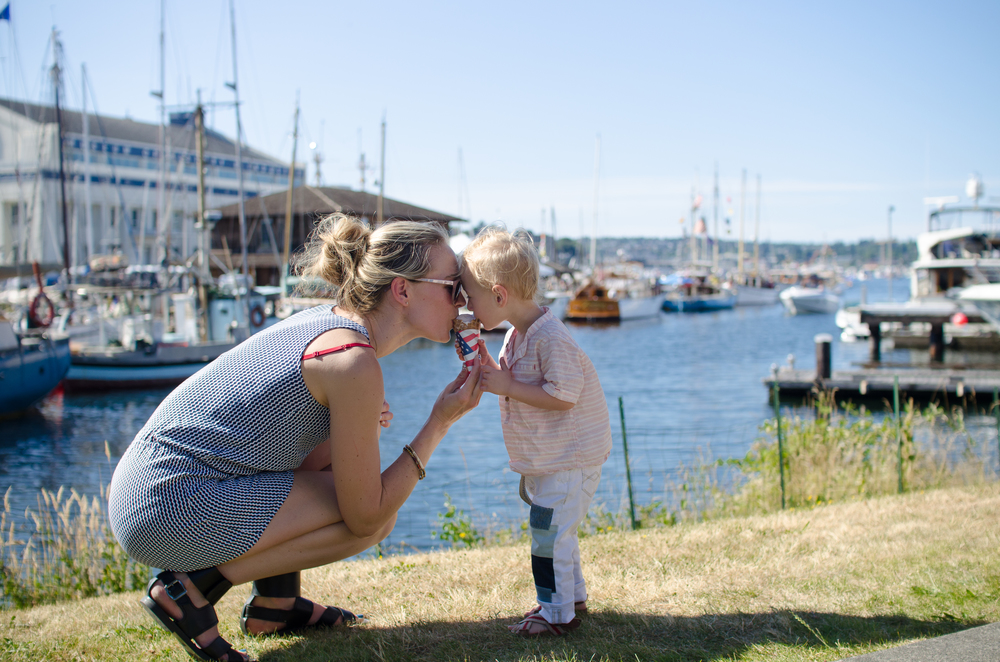 We spent the day at the South Lake Union Park playing in the splash park and eating ice cream with friends and family.