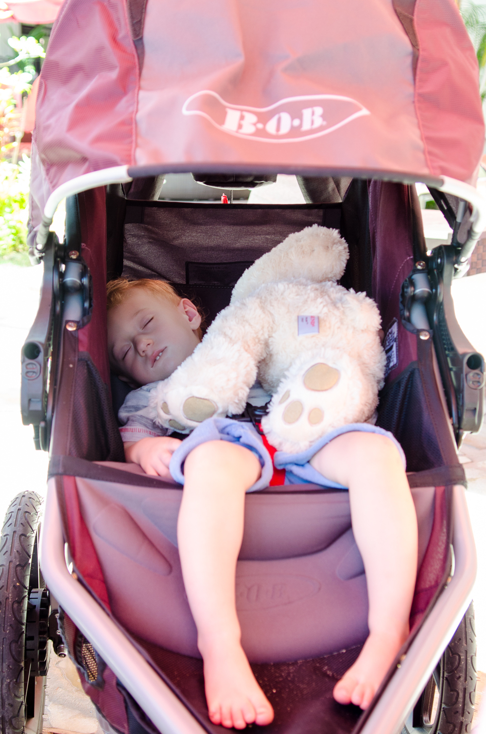 Napping in our Bob stroller // A Royal Hawaiian Vacation // {by Totes and the City}
