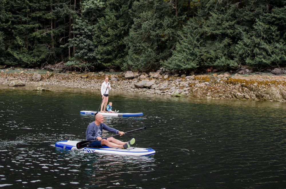 A paddle board in Desolation Sound is a MUST! Von Donop Inlet of Cortez Island.