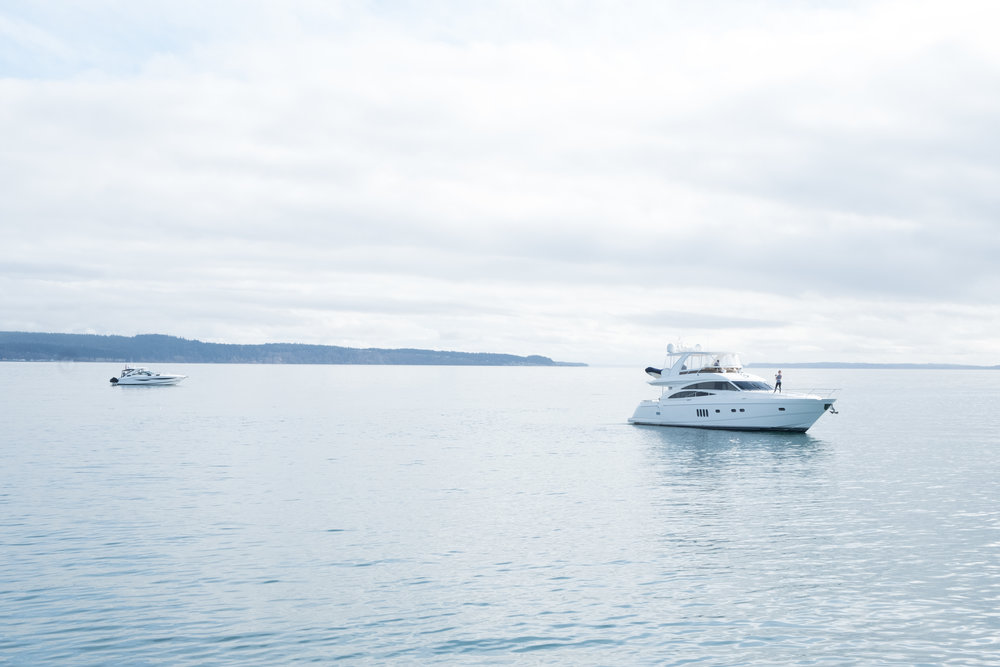 Views of the Puget Sound with our travel companions | Yachtlife | by Totes and the City