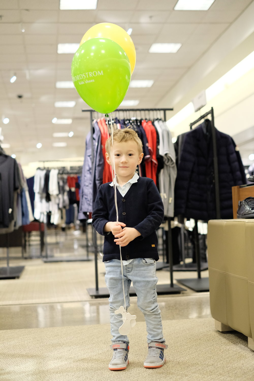 Balloons at Nordstrom in Portland, OR | Birthday Getaway | by Totes and the City