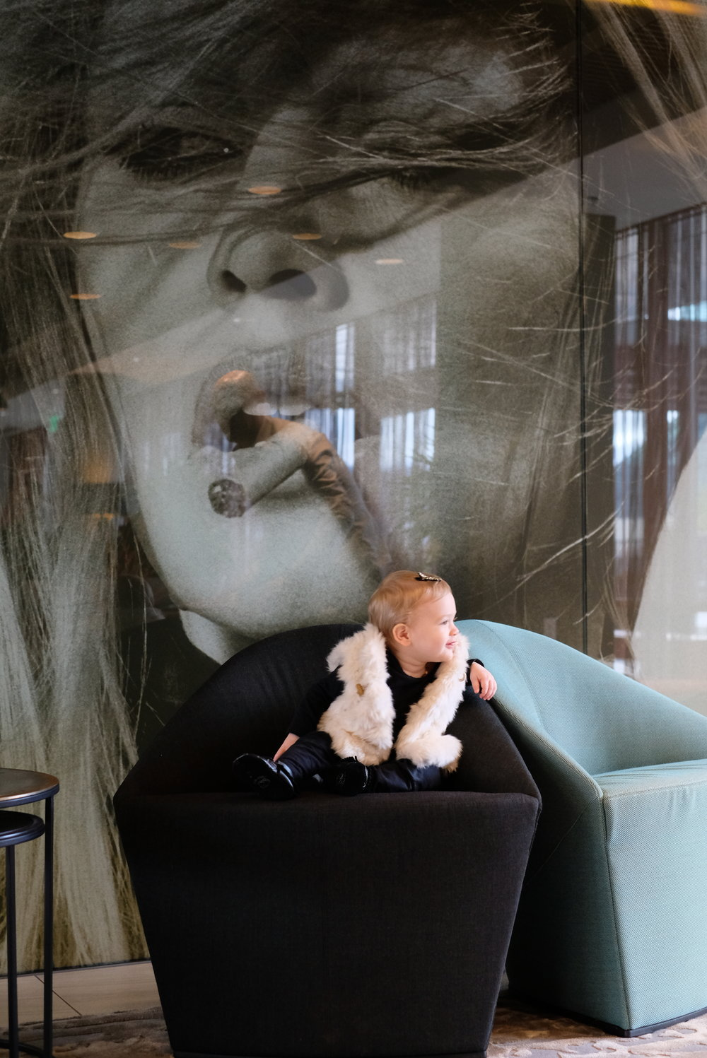 Brigitte Bardot portrait at Hotel Eastlund, Portland, OR | Birthday Getaway | by Totes and the City