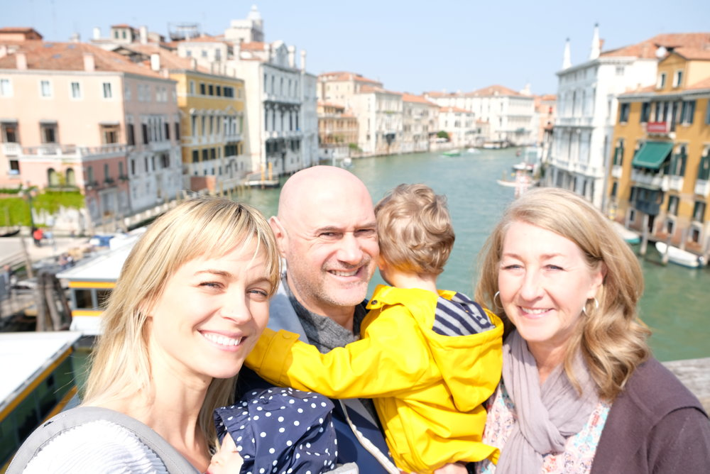 Standing on the Ponte dell'Accademia over the Grand Canal