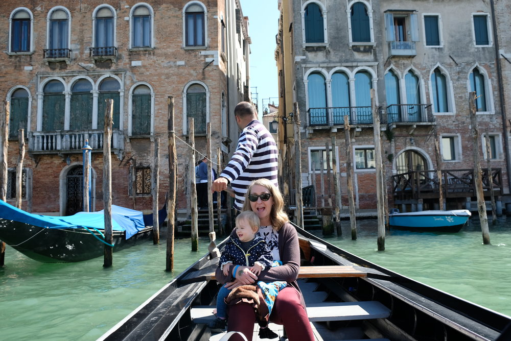 Gondola on the Grand Canal in Venice, Italy | Venice with Kids | blog post by Totes and the City