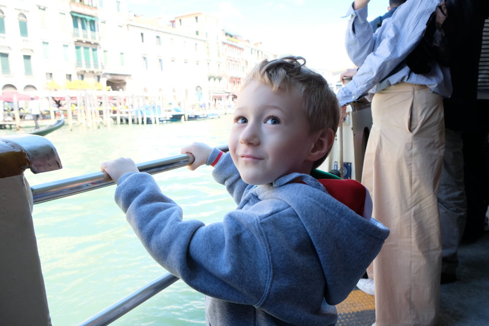 Vaporetto in Venice, Italy | Venice with Kids | Blog post by Totes and the City