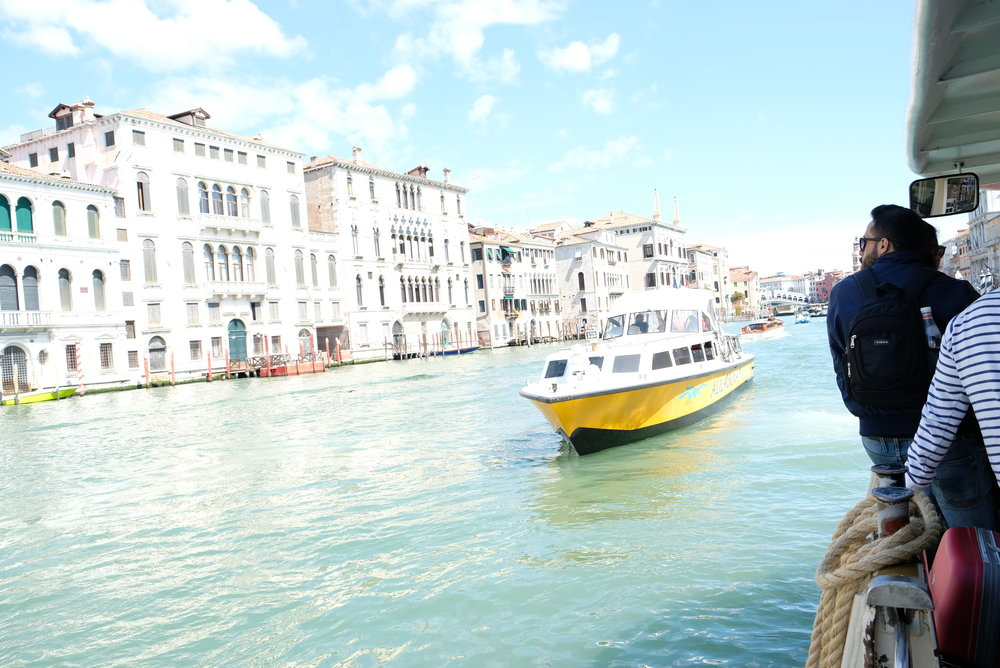 Vaporetto on the Grand Canal of Venice, Italy | Venice with Kids | Blog Post by Totes and the City