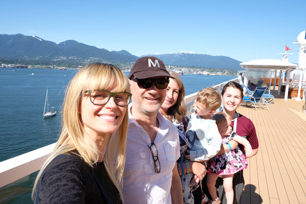 On board the Disney Wonder with the family, leaving Vancouver BC Canada on Our Disney Cruise to Alaska | A Disney Cruise Guide by Totes and the City