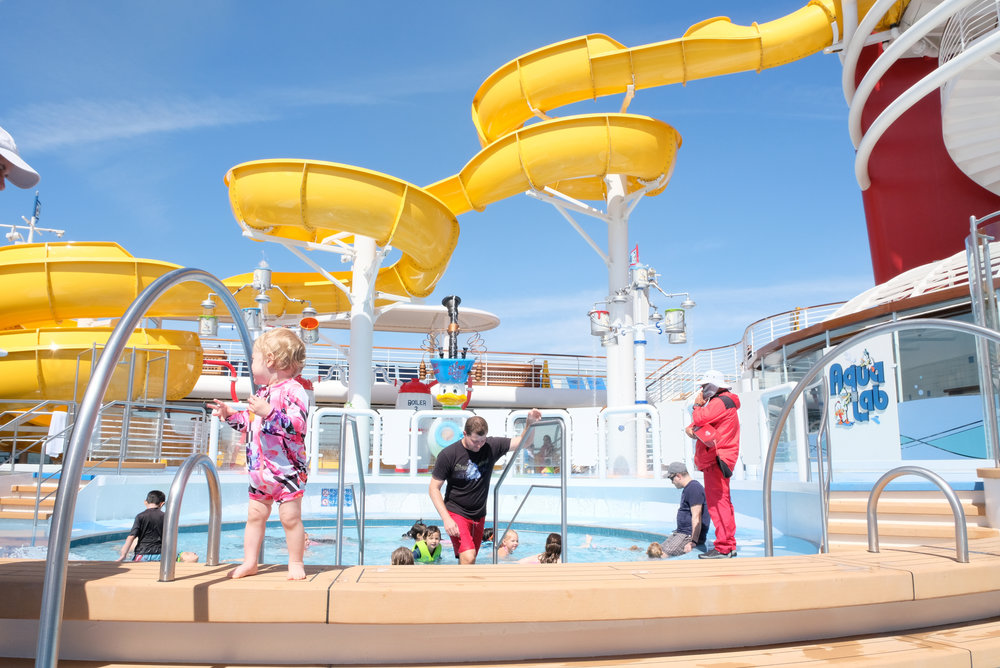 Disney Wonder Aqua Lab and Goofy's Pool | Our Disney Cruise to Alaska | A Disney Cruise Guide by Totes and the City