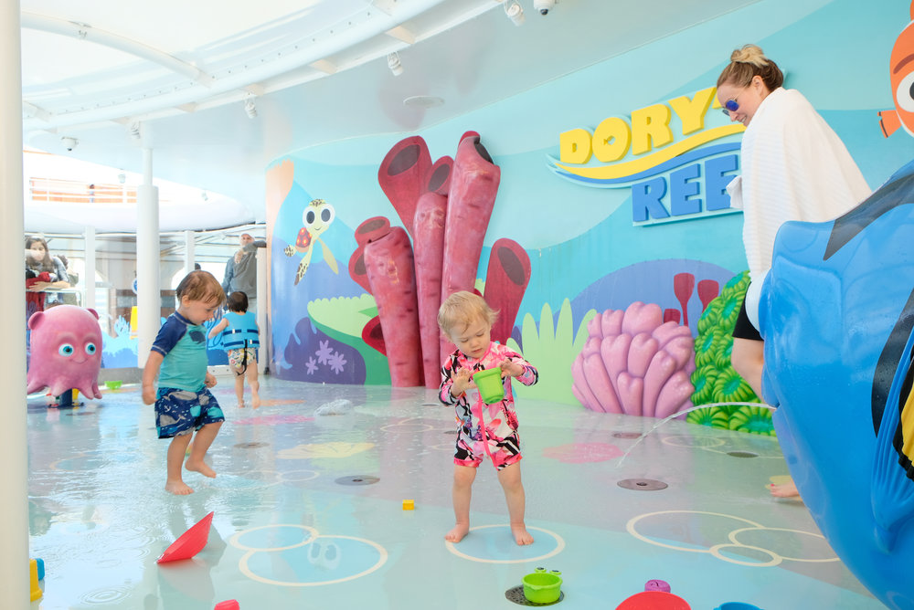 Dory's Reef Splash Pad on the Disney Wonder | Our Disney Cruise to Alaska | A Disney Cruise Guide by Totes and the City