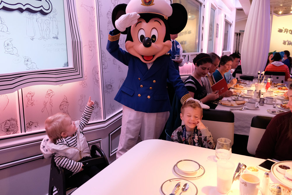 Character's Breakfast in Animator's Palate on the Disney Wonder | Our Disney Cruise to Alaska | A Disney Cruise Guide by Totes and the City