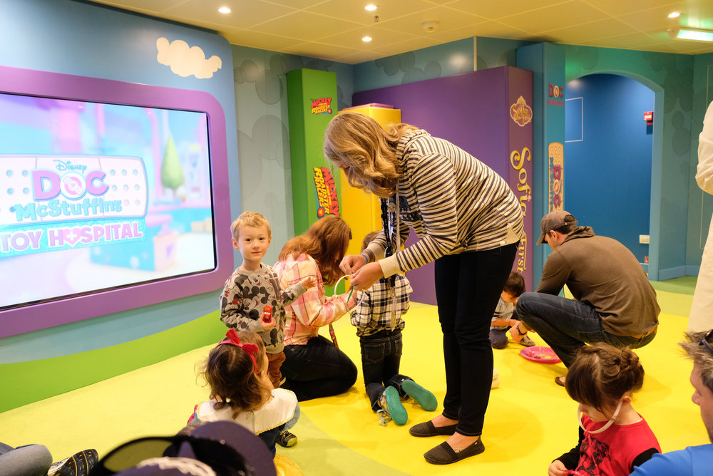 Playing Doctor (Doc McStuffins Style) in the Oceaneer's Club on the Disney Wonder | Our Disney Cruise to Alaska | A Disney Cruise Guide by Totes and the City
