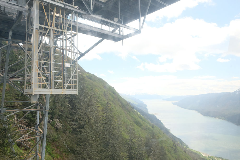 View from the top of Mount Roberts Tramway in Juneau Alaska