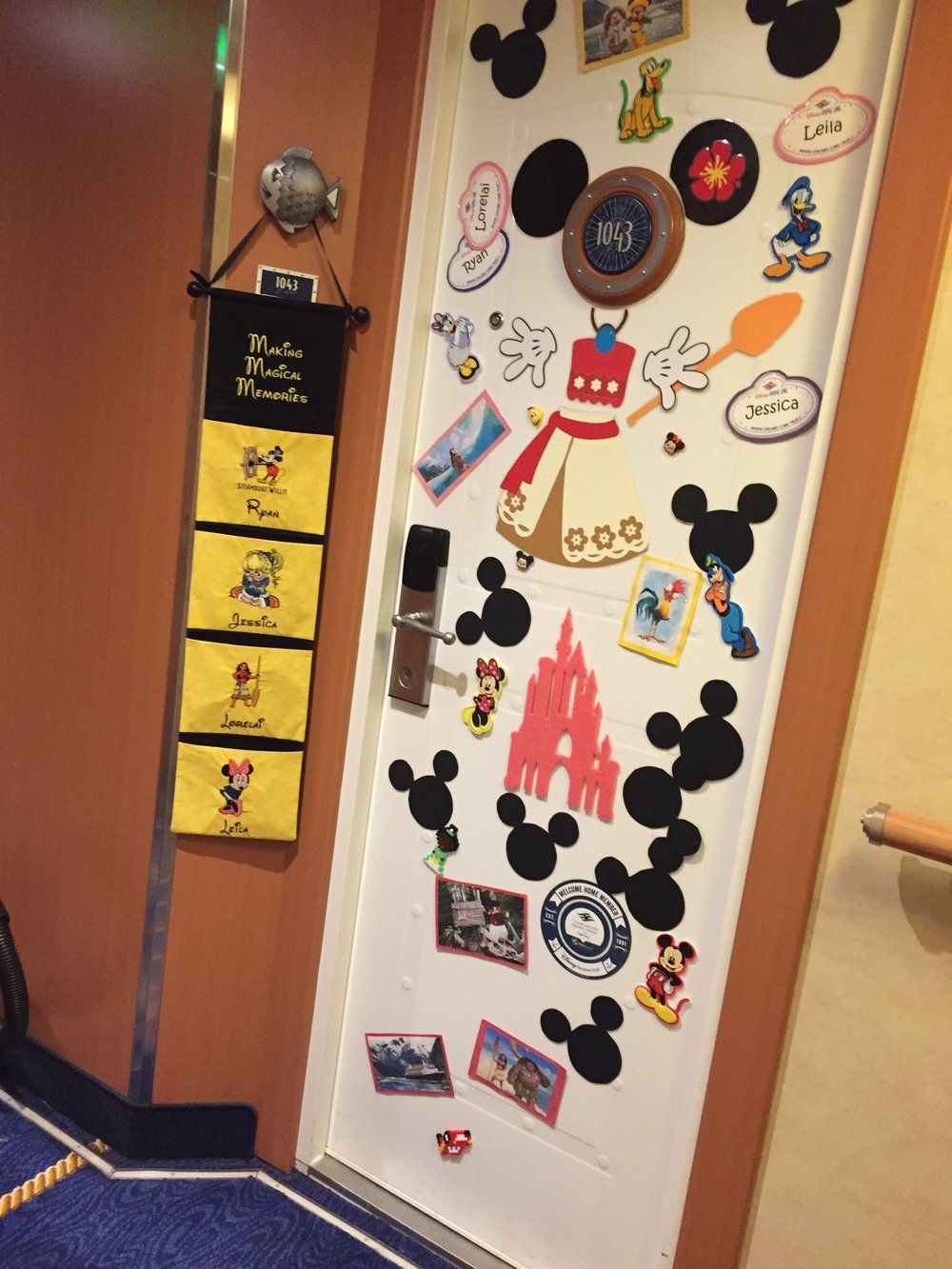 A decorated door on the Disney Wonder | Our Disney Cruise to Alaska | blog post and guide by Totes and the City