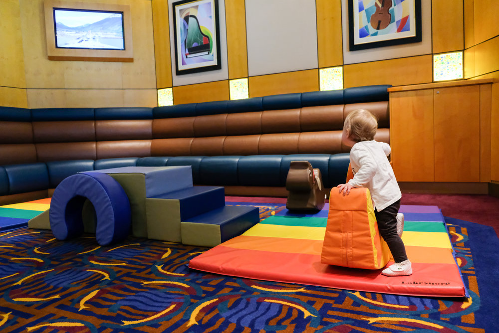 Toddler Room in the Promenade Lounge on Deck 3 of the Disney Wonder