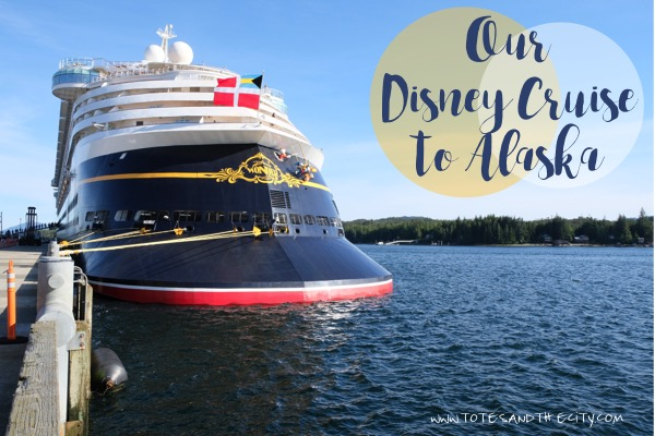 The Disney Wonder docked in Ketchikan, Alaska | Our Disney Cruise to Alaska | A Disney Cruise Guide by Totes and the City