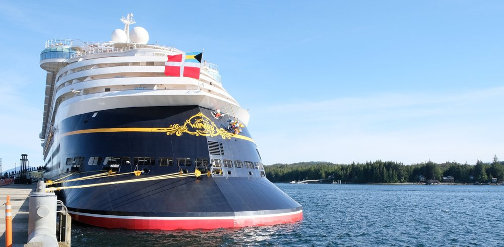 The Disney Wonder docked in Ketchikan, Alaska on Our Disney Cruise to Alaska | A Disney Cruise Guide by Totes and the City