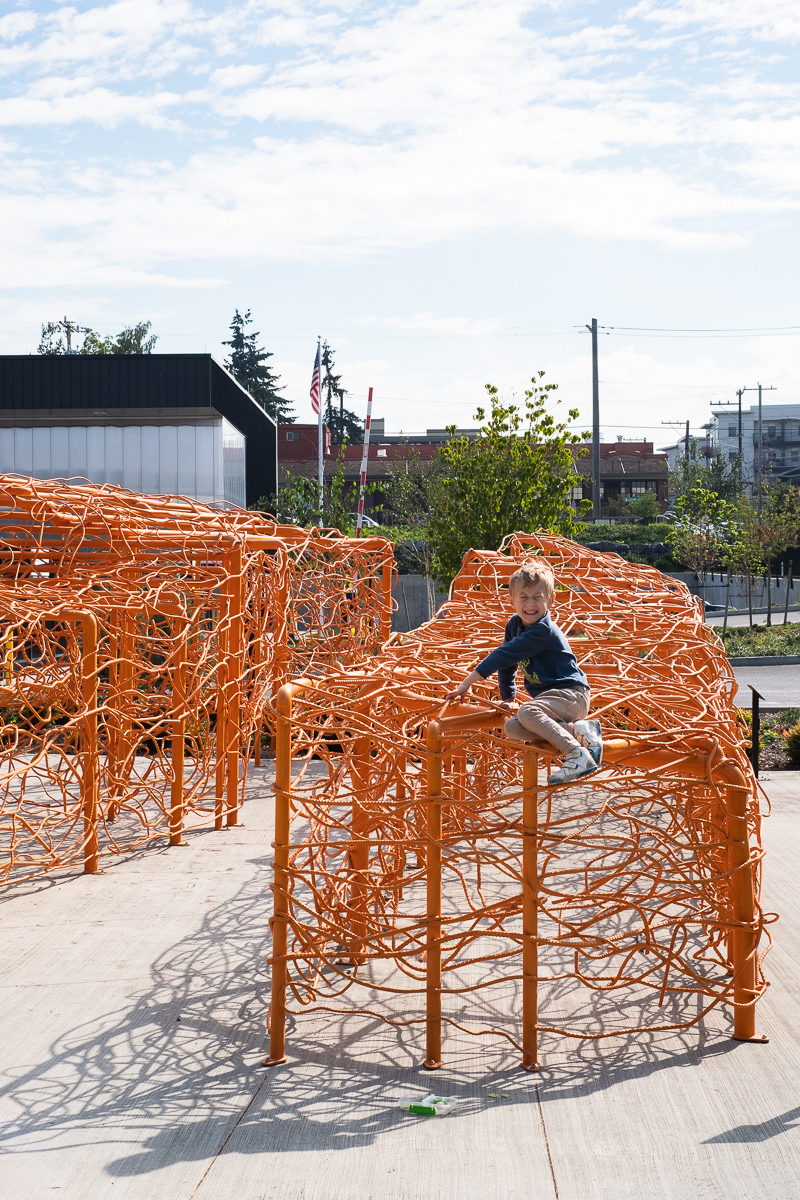 Recycled Rebar art installation by artist Jean Shin at the North Transfer Station is Seattle, WA