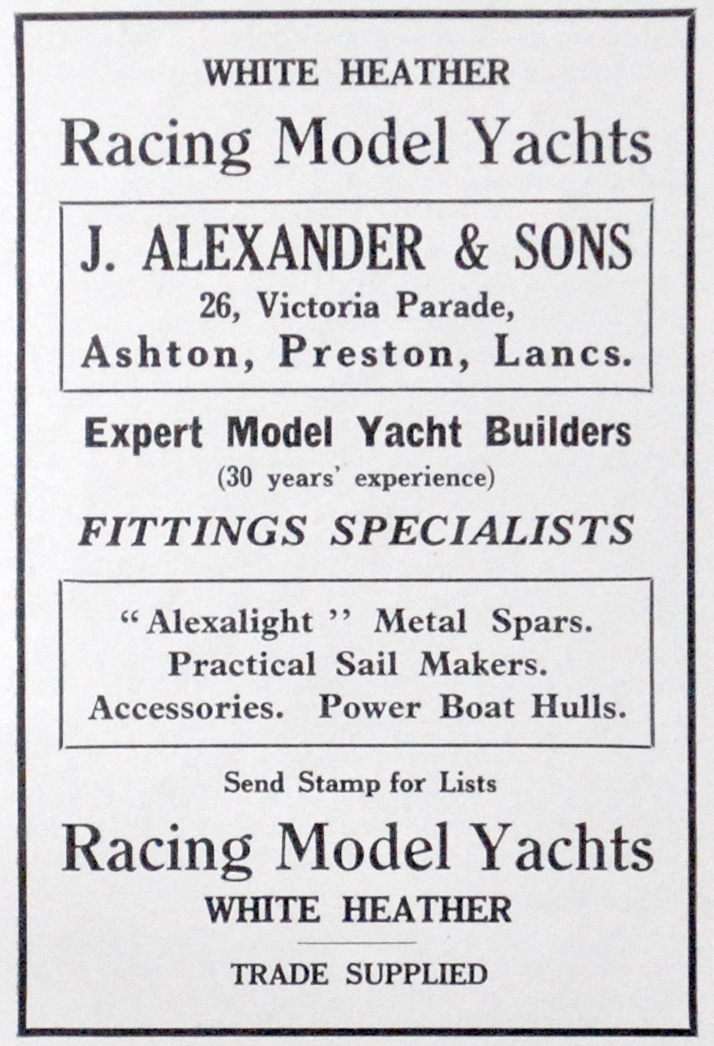 Alexander advert in the 1936 Marine Models.