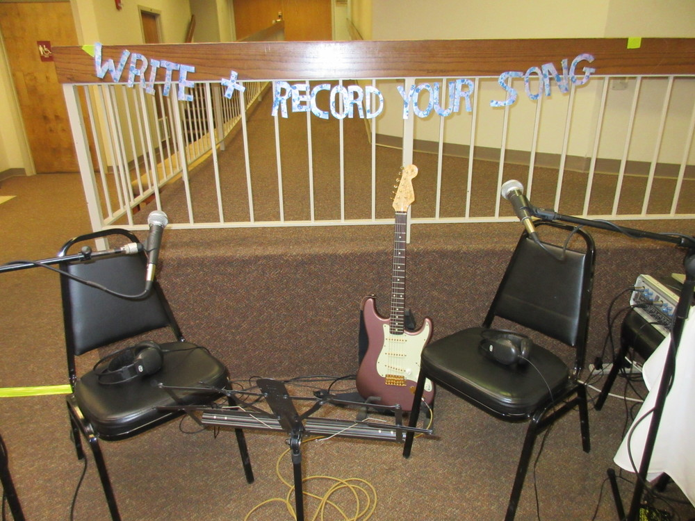 HTMT's makeshift recording studio at the Mental Illness Hits Home Conference