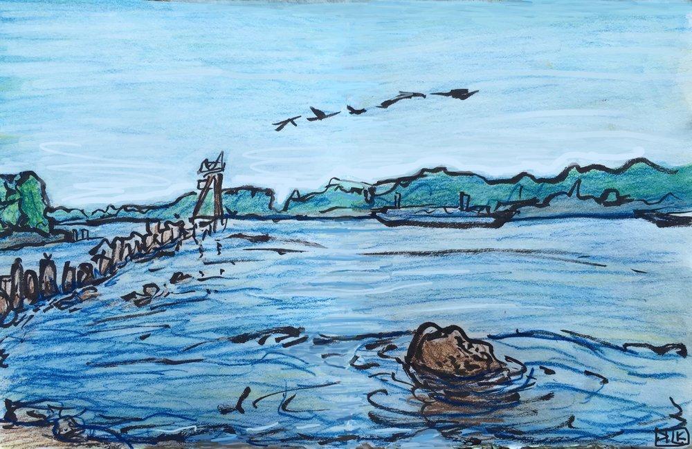 Kelley Point in Blue