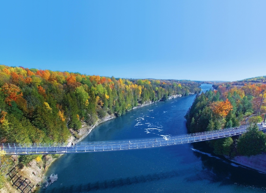 Ranney Gorge Suspension Bridge - photo courtesy of Northumberland County Tourism