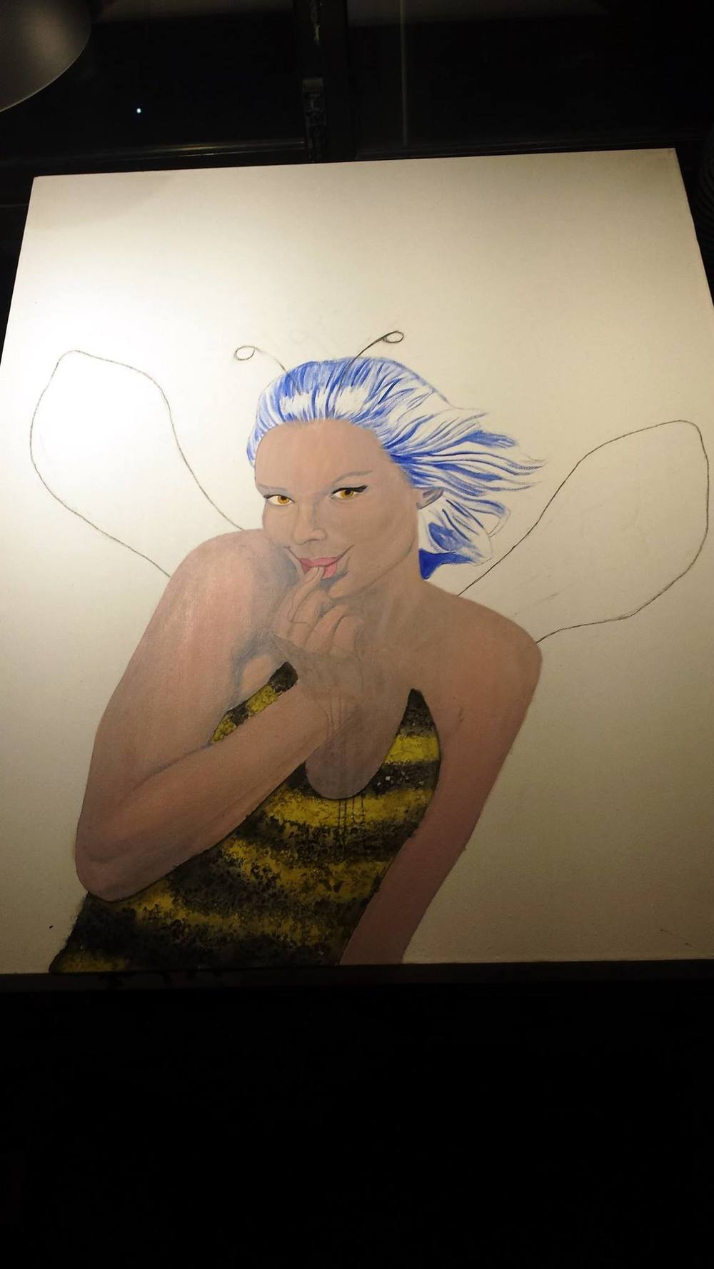 WIP#4 Buzzing dress, lips and eyes