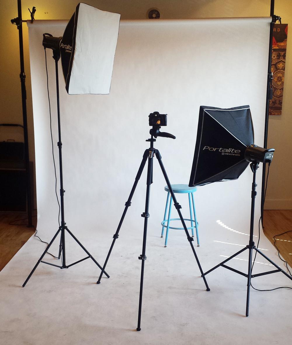 Photo shoot setup.