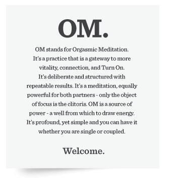 Description of an orgasm