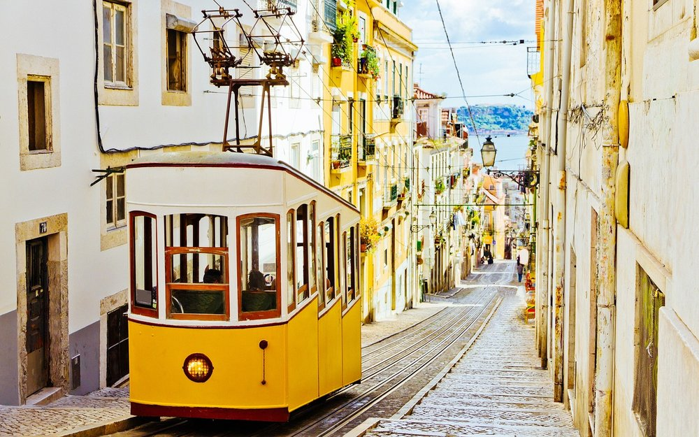 This is a picture of a streetcar in Lisbon, it is here because I am nostalgic for Lisbon