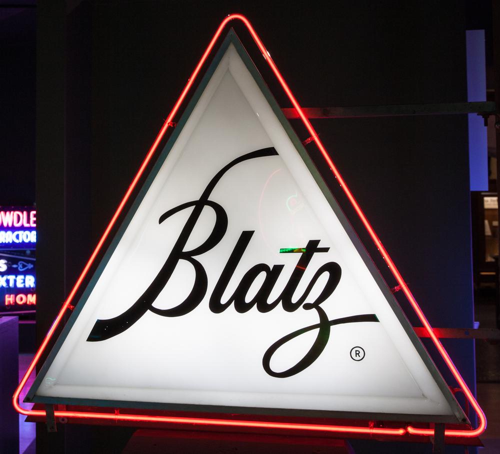 Blatz Beer Plastic and Neon Sign.