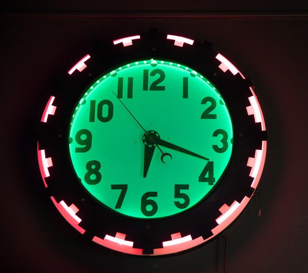 Aztec Neon Clock