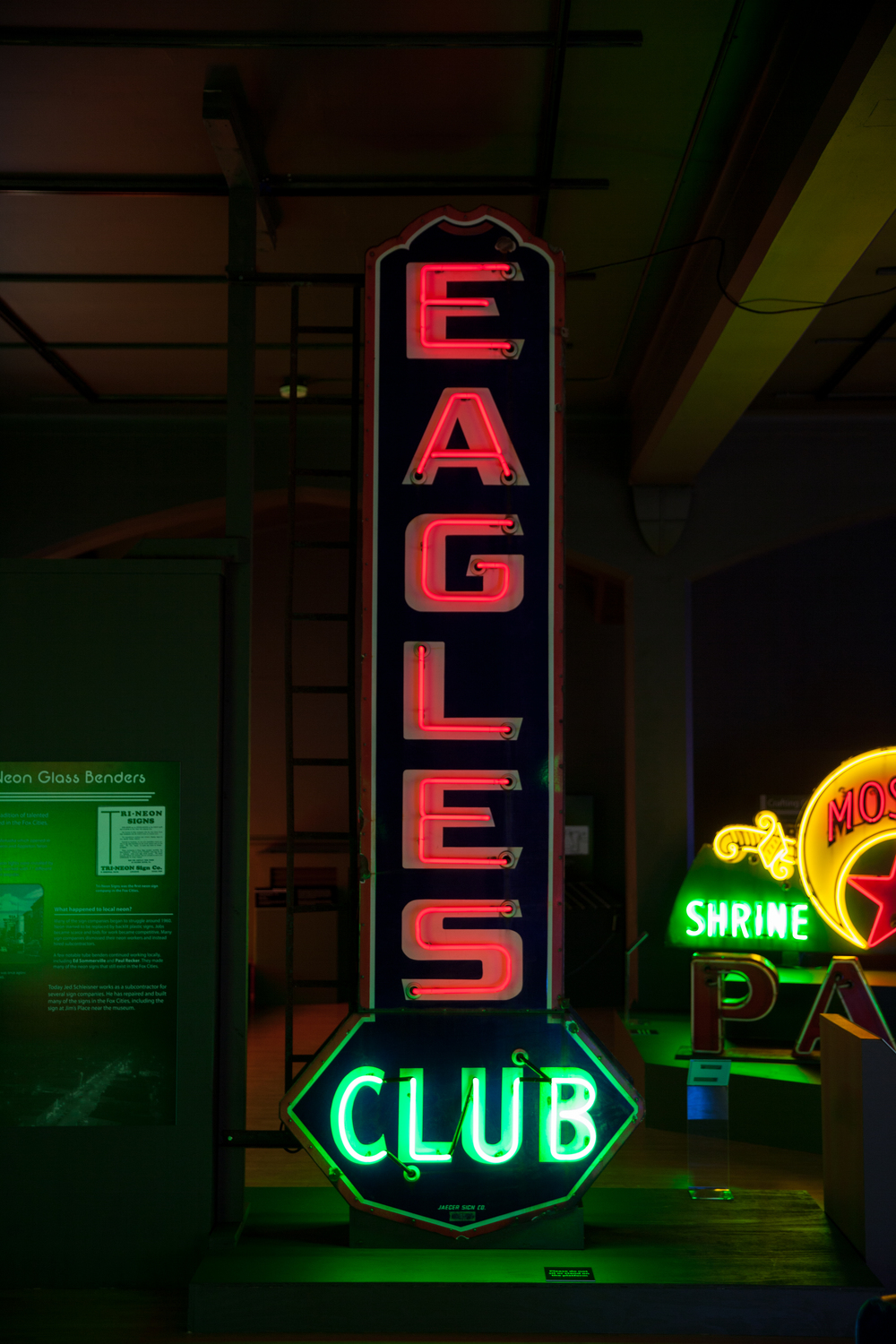 Eagles Club Neon and Porcelain Enamel Sign.
