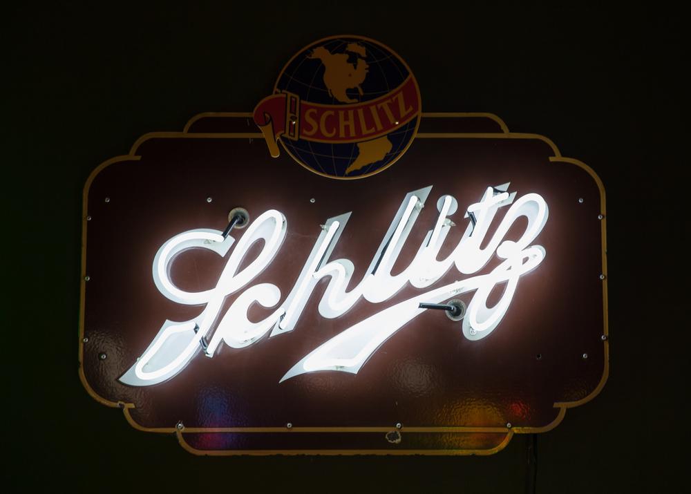 Schlitz Beer Neon and Porcelain Enamel Sign